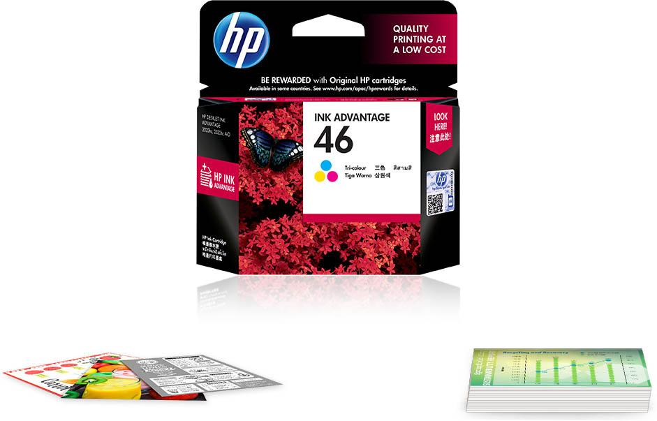 Original HP 46 Tri-color Ink Cartridge