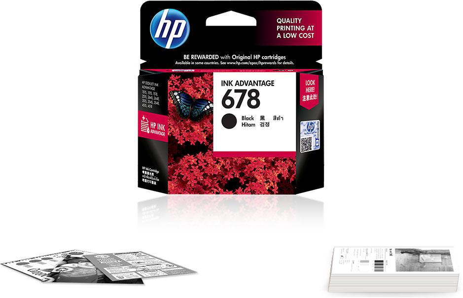 Original HP 678 Black Ink Cartridge