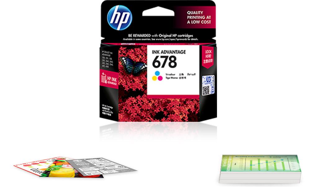 Original HP 678 Tri-color Ink Cartridge
