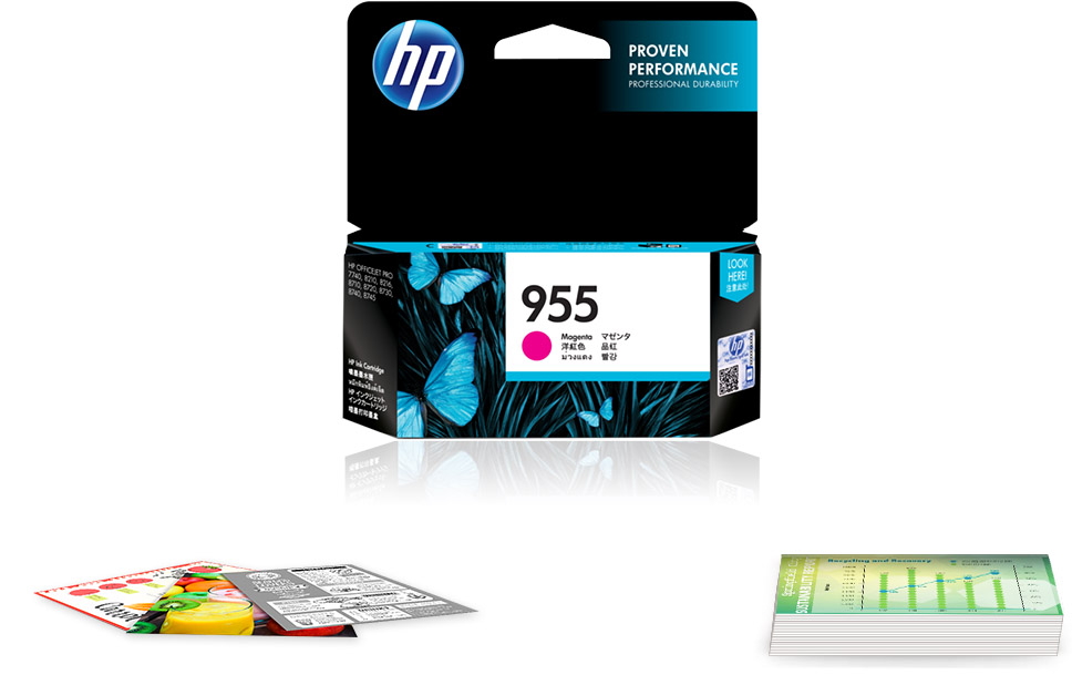 Original HP 955 Magenta Ink Cartridge
